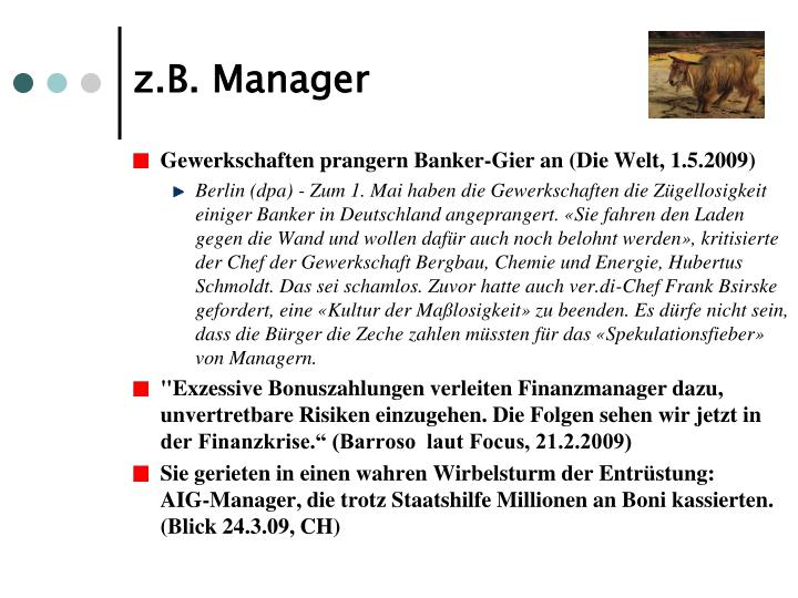 z.B. Manager