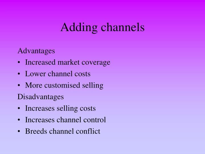 Adding channels