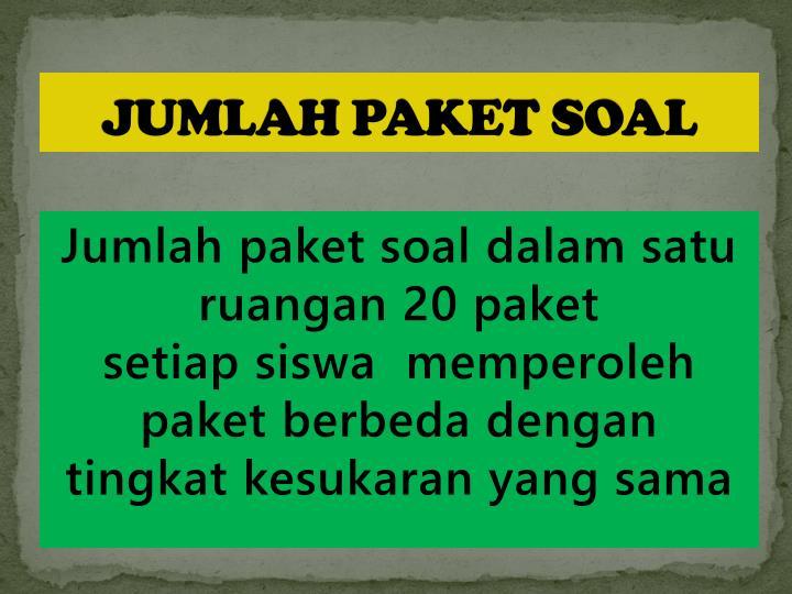JUMLAH PAKET SOAL