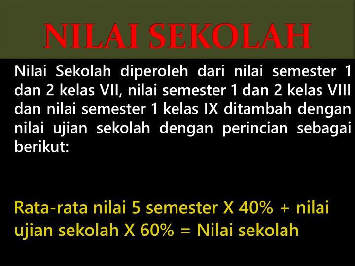 NILAI SEKOLAH