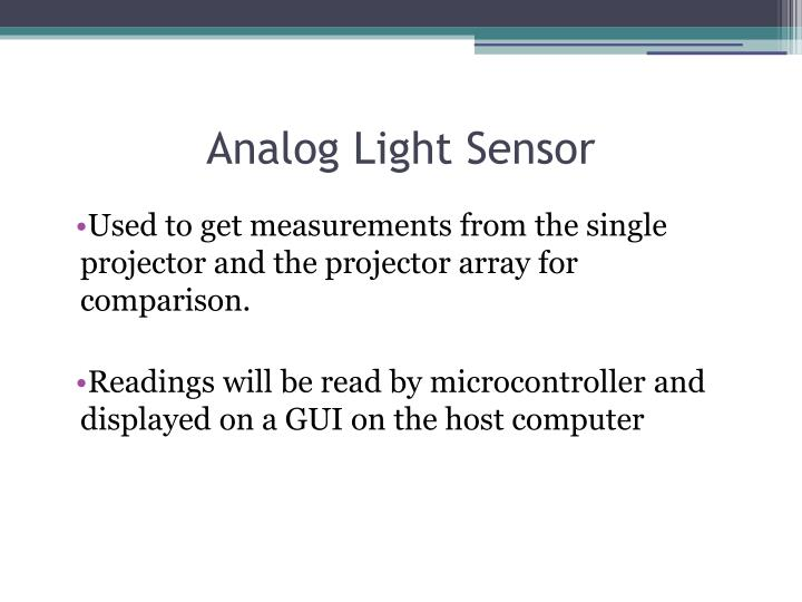 Analog Light Sensor