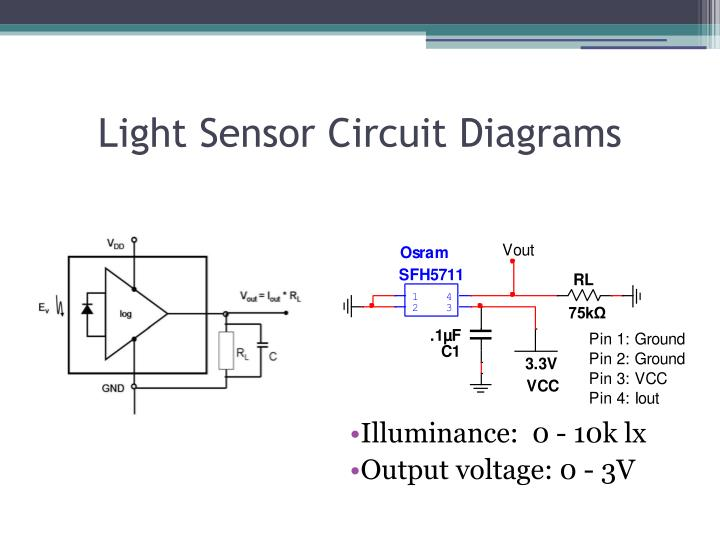 Light Sensor Circuit Diagrams