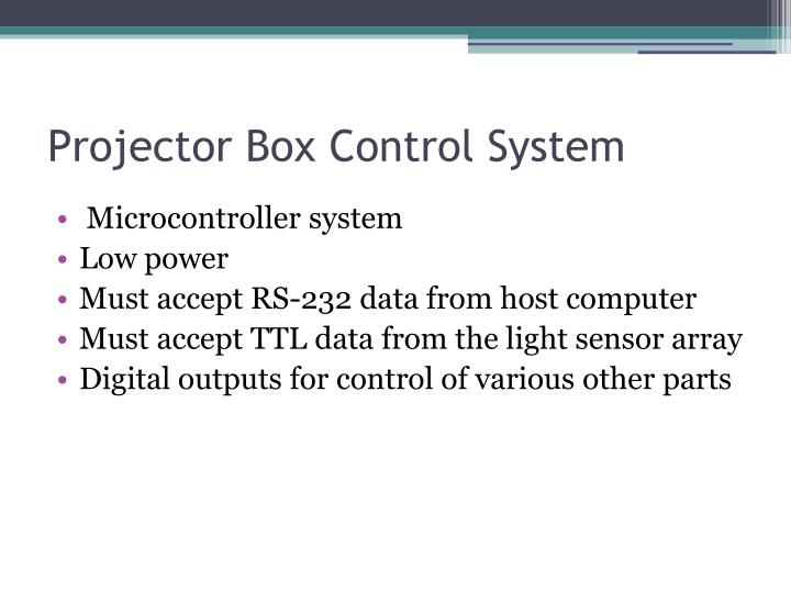 Projector Box Control System
