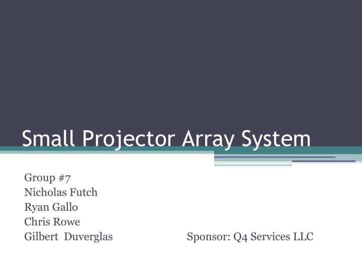 Small projector array system