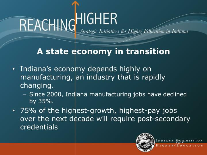 A state economy in transition