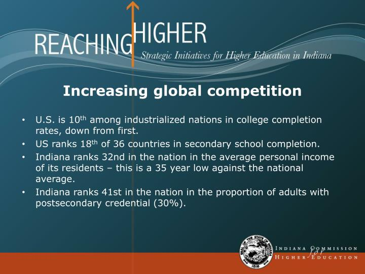 Increasing global competition