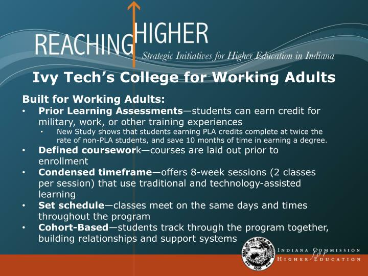 Ivy Tech's College for Working Adults