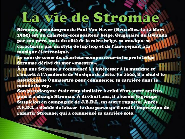 La vie de Stromae