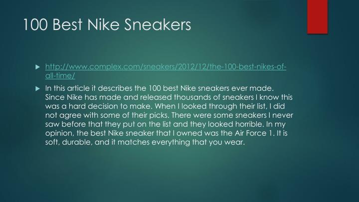 100 Best Nike Sneakers