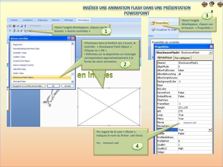 Insérer une animation flash dans une présentation PowerPoint