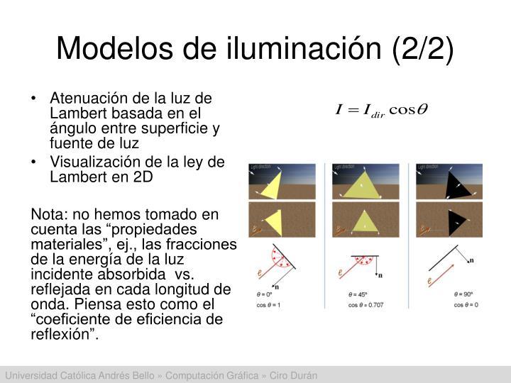 Modelos de iluminación