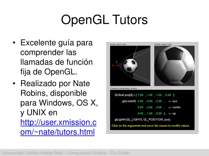 OpenGL Tutors