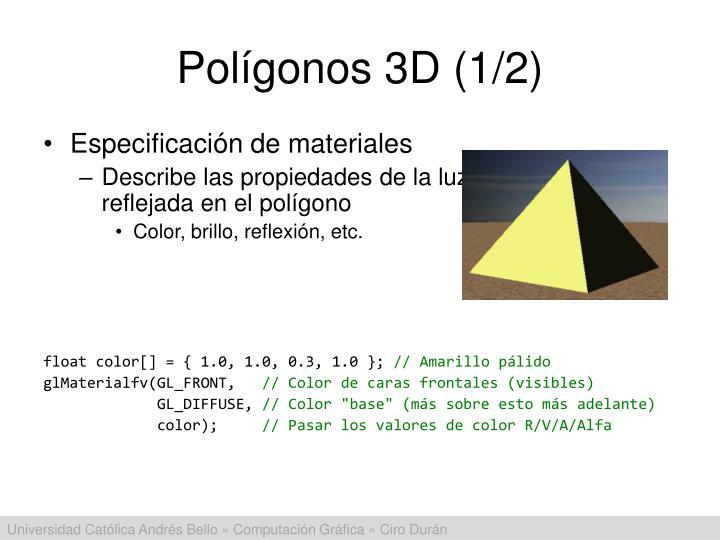 Polígonos 3D (1/2)