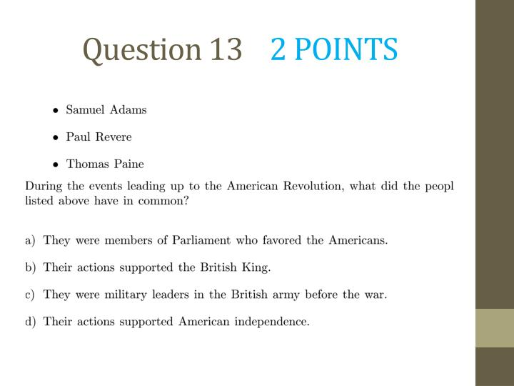 Question 13