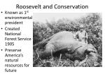roosevelt and conservation