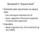roosevelt s square deal