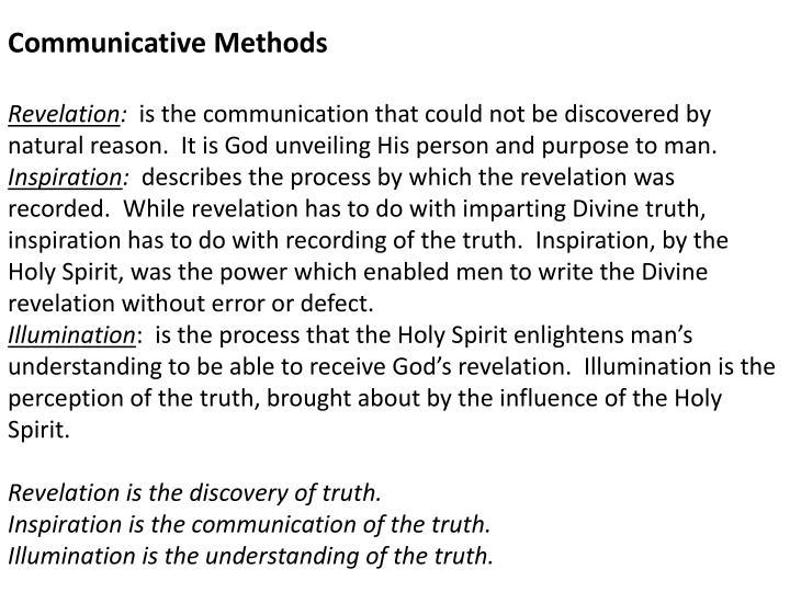 Communicative Methods