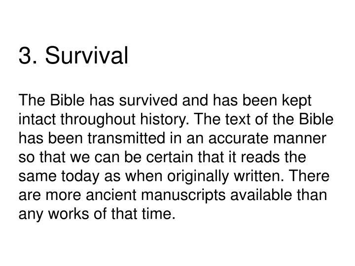3. Survival