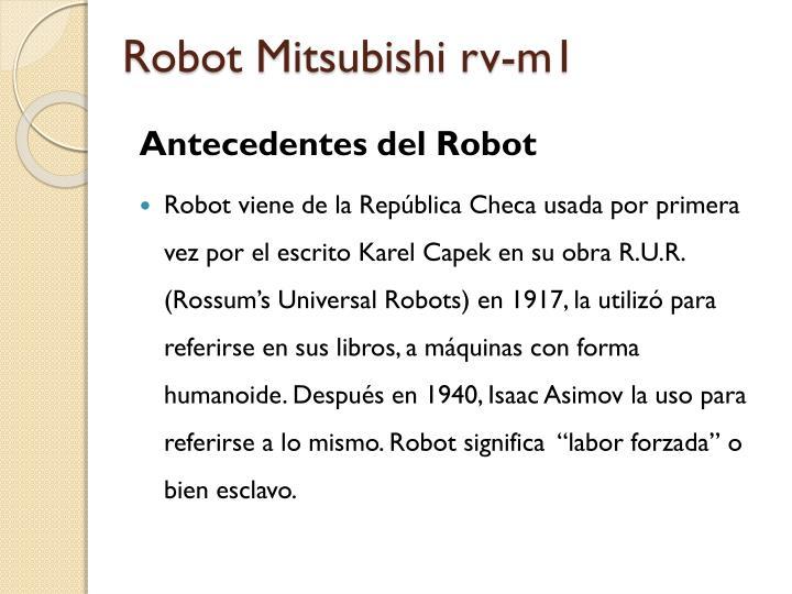 Robot Mitsubishi rv-m1