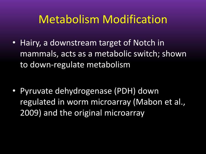 Metabolism Modification