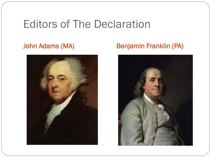 Editors of The Declaration