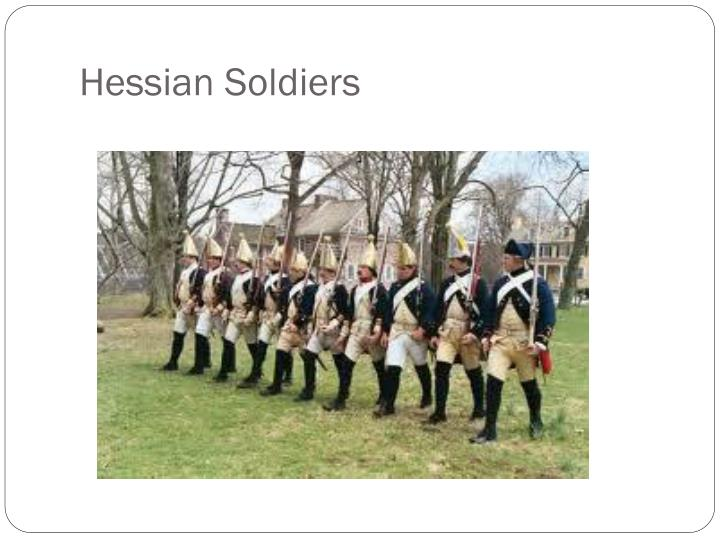 Hessian Soldiers