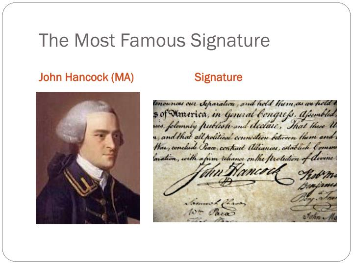 The Most Famous Signature