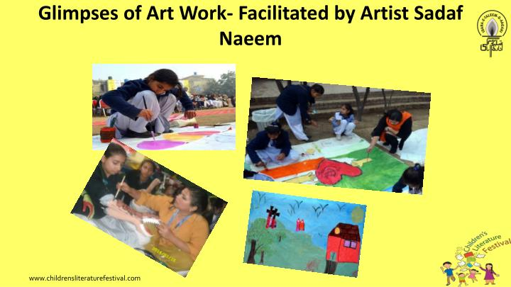 Glimpses of Art Work- Facilitated by Artist
