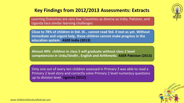 Key Findings from 2012/2013 Assessments: Extracts