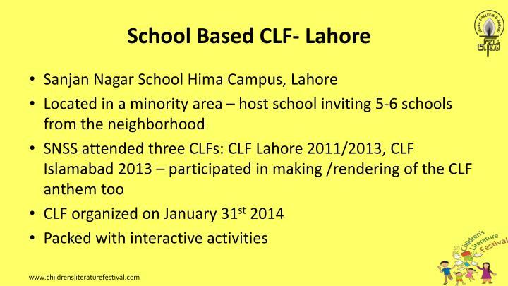 School Based CLF- Lahore