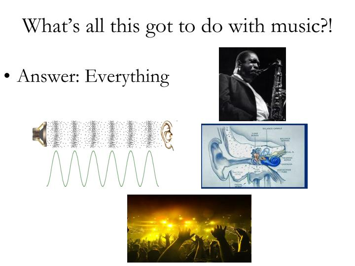 Answer: Everything