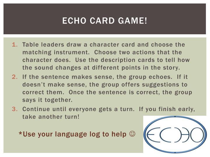 ECHO card game!