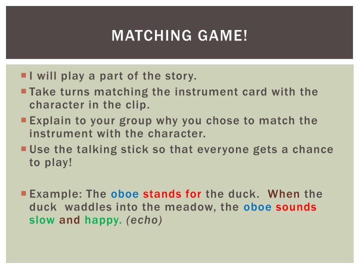 Matching Game!