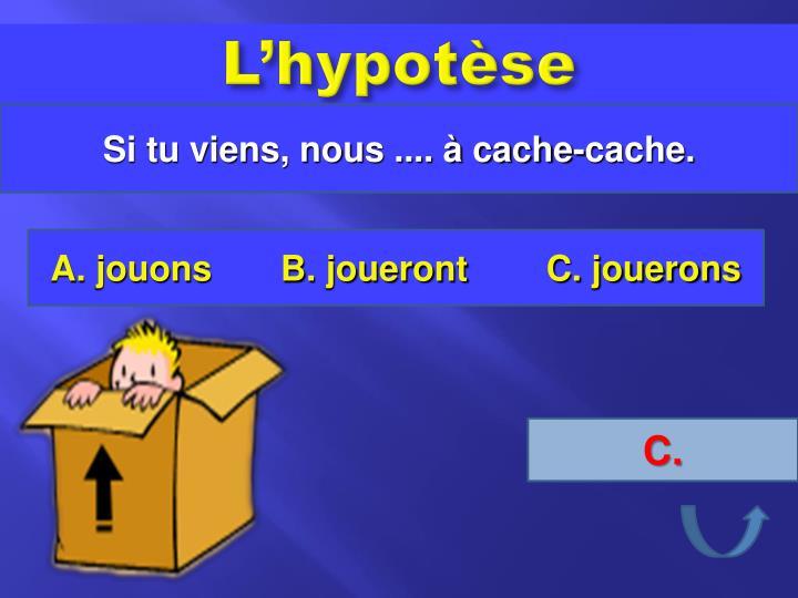 L'hypotèse