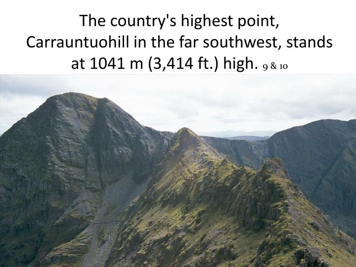 The country's highest point,
