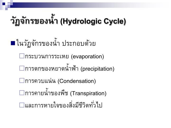 วัฏจักรของน้ำ