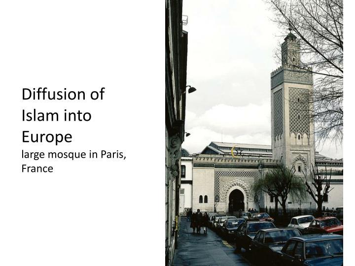 Diffusion of Islam into Europe