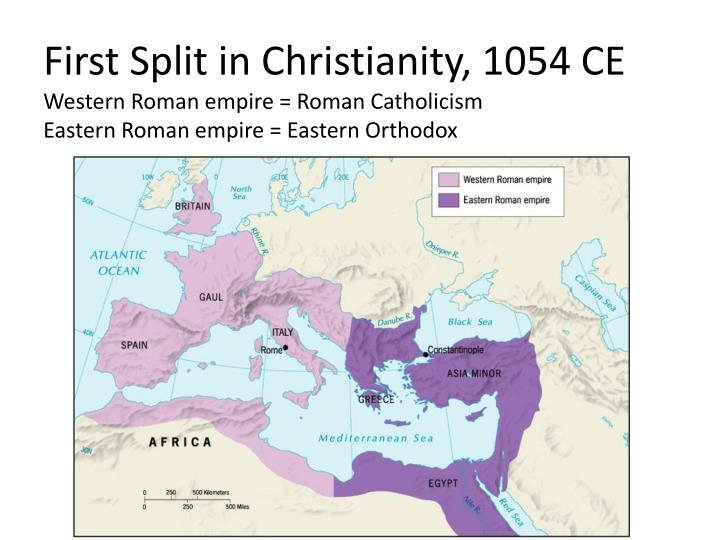 First Split in Christianity, 1054 CE