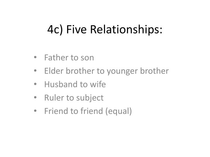 4c) Five Relationships: