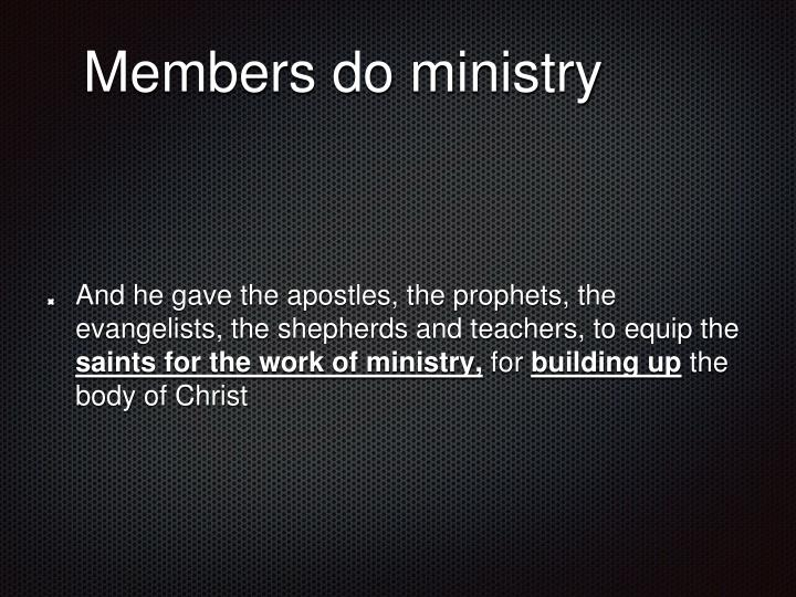 Members do ministry