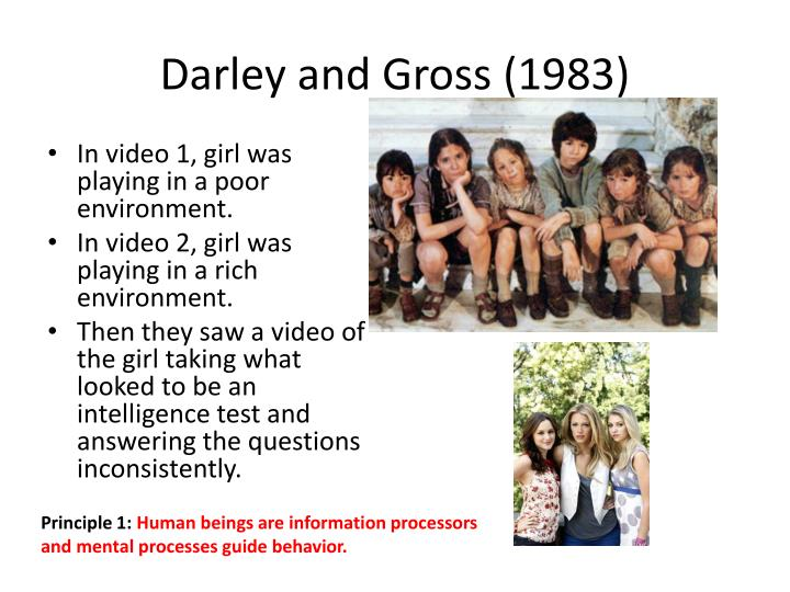 Darley and Gross (1983)