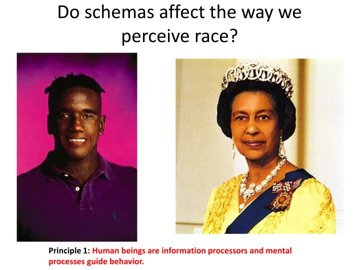 Do schemas affect the way we perceive race?