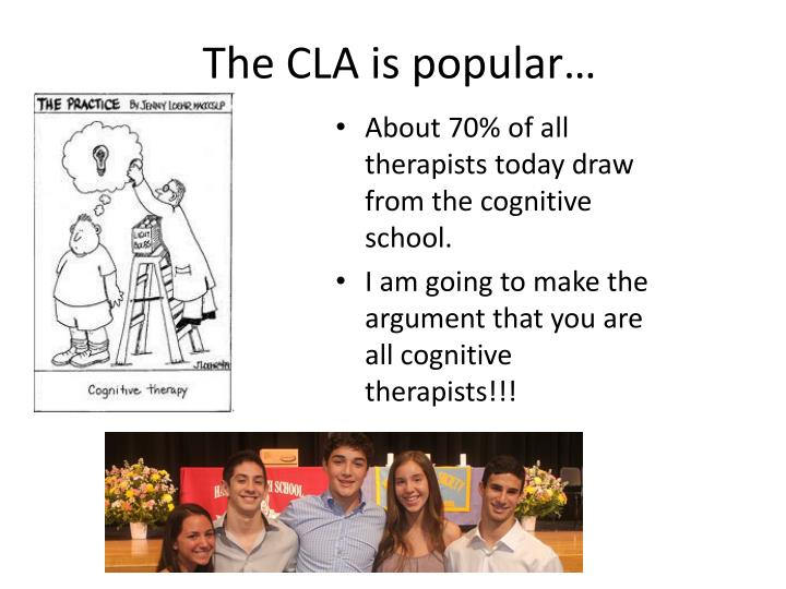 The CLA is popular…