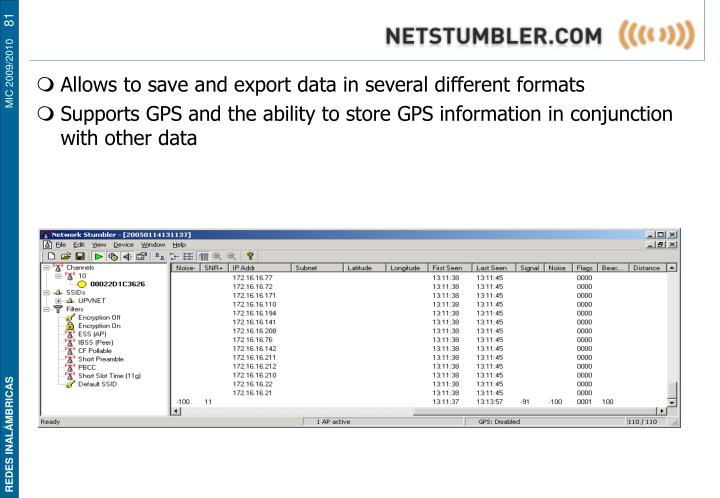 Network Stumbler