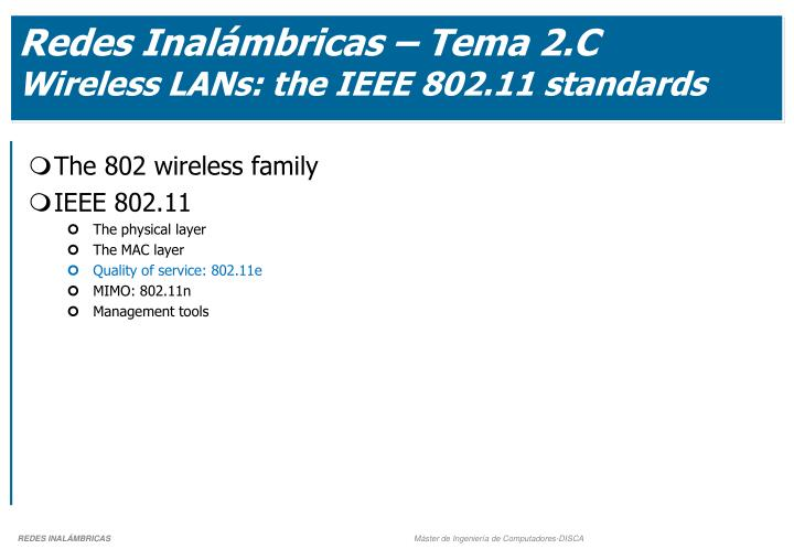 Redes Inalámbricas – Tema 2.C