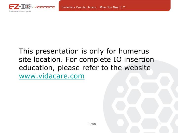 This presentation is only for