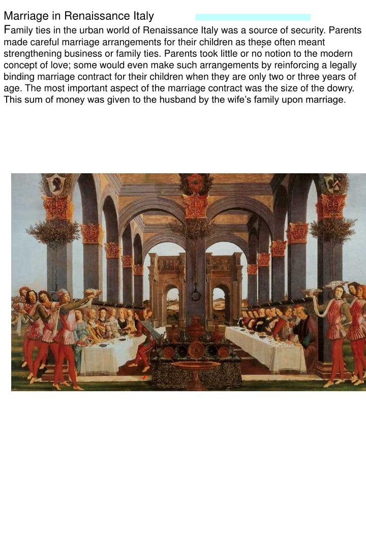 Marriage in Renaissance Italy