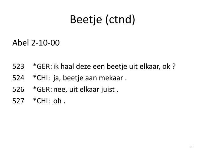 Beetje (