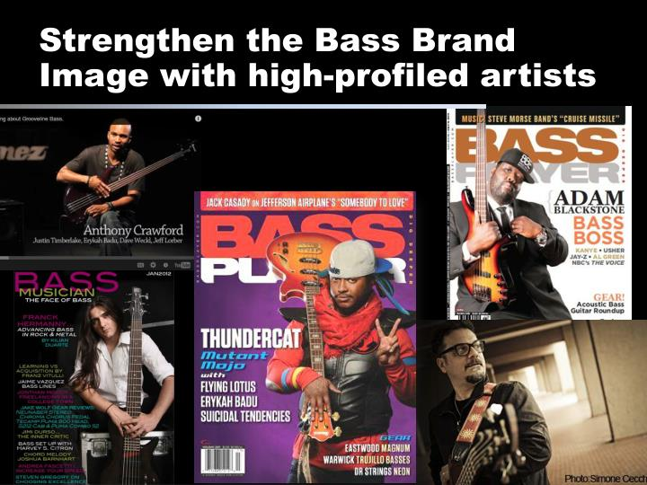 Strengthen the Bass Brand Image with high-profiled artists