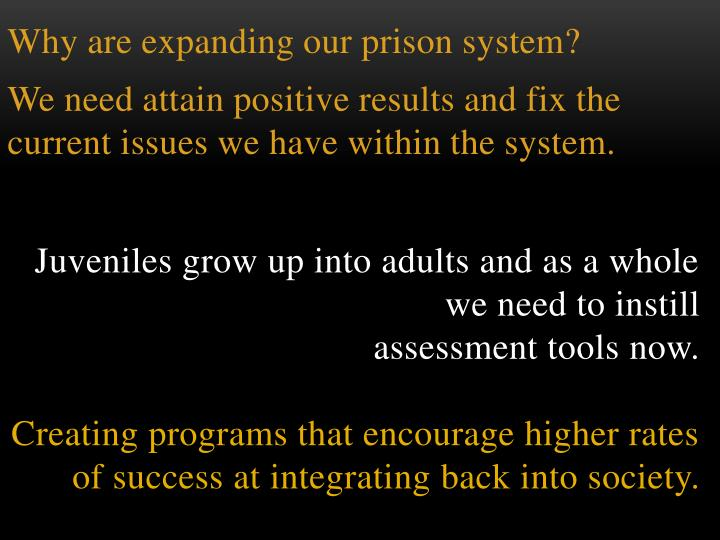 Why are expanding our prison system?